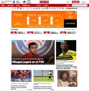 La Liga uutiset Marca